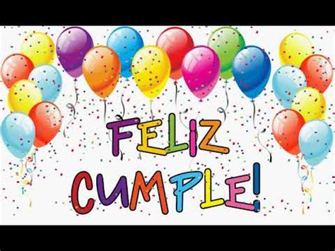 Feliz Cumpleaños // Happy Birthday Spanish song   YouTube