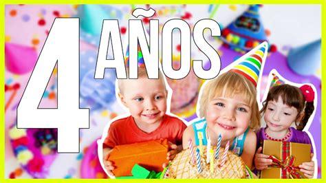 Feliz cumpleaños infantil para niños 4 años   cancion ...