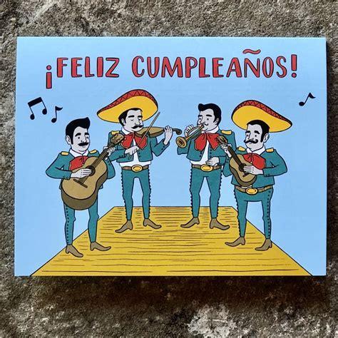 Feliz Cumpleaños Mariachi Card – Artelexia
