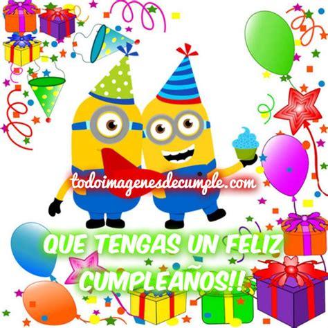 feliz cumpleaños minios   Cumpleaños   Pinterest