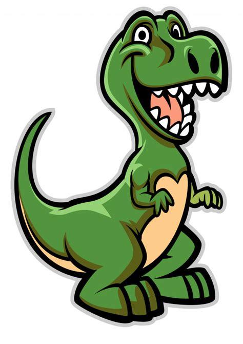 Feliz, dinosaurio, caricatura | Vector Premium