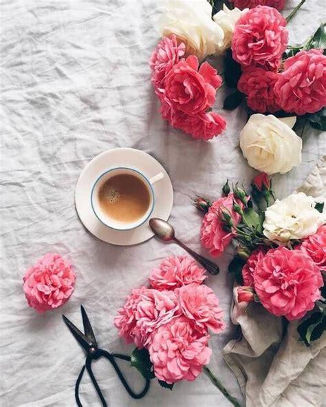 Feliz Miércoles | Flores y cafe, Arte del café