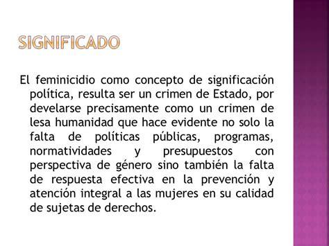 FEMINICIDIO Crimen de lesa humanidad   ppt descargar