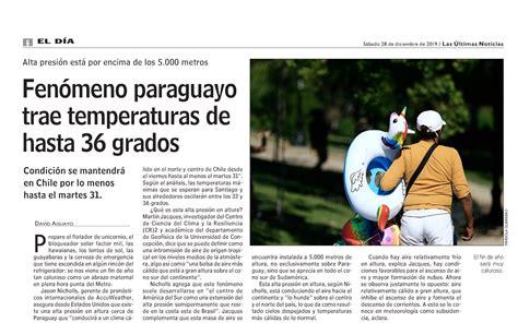 Fenómeno paraguayo trae temperaturas de hasta 36 grados ...