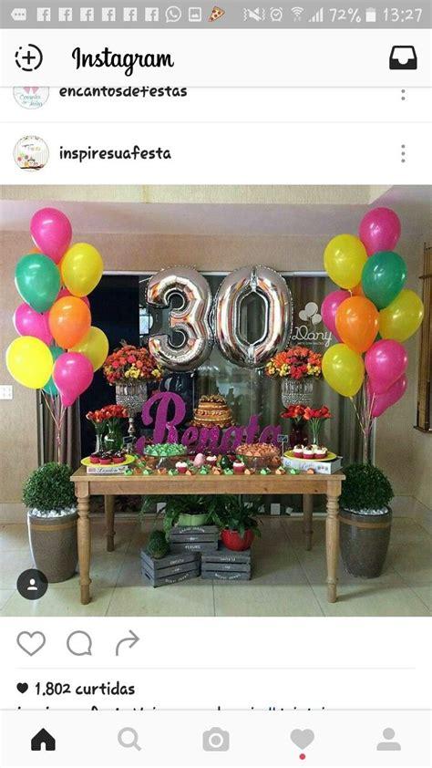 Festa adulta | Arreglos | Birthday party decorations ...