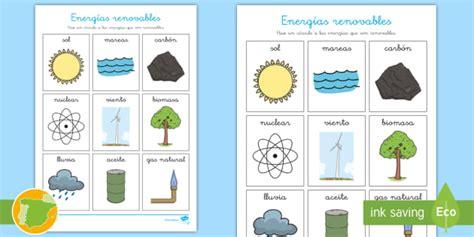 Ficha de actividad: Las energías renovables