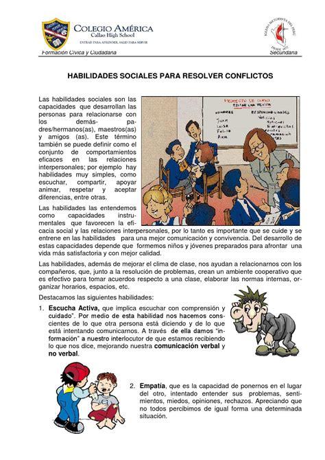Ficha informativa habilidades sociales 2do sec by Carlos ...
