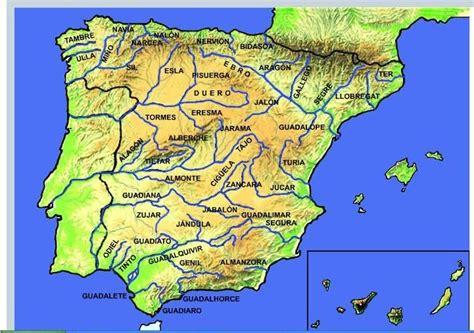 Ficha para aprender los ríos de España: Mapa interactivo ...