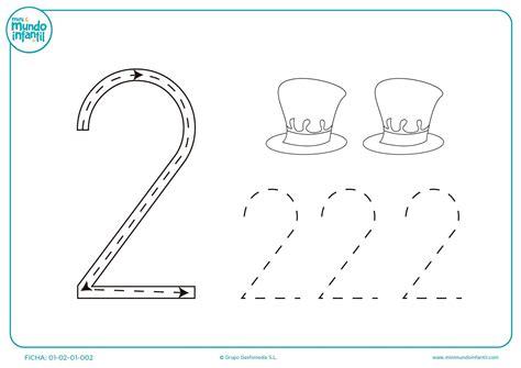 Ficha para colorear número 2 | Fichas, Imprimibles para ...