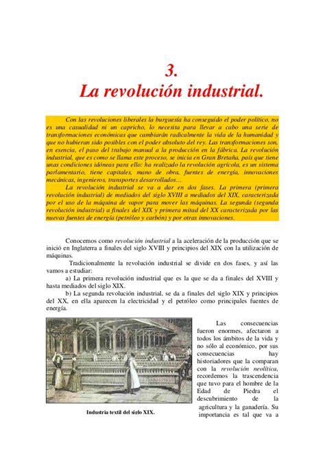 Ficha Resumen   La Revolución Industrial