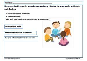 Fichas de habilidades sociales para solucionar conflictos