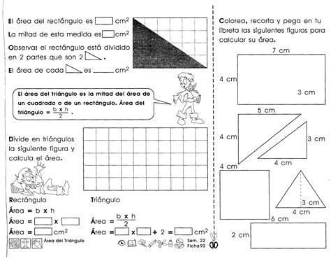 fichas de repaso para imprimir sobre area y perímetro ...
