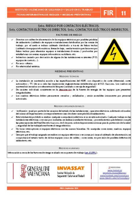 Fichas de riesgos   Generalitat Valenciana