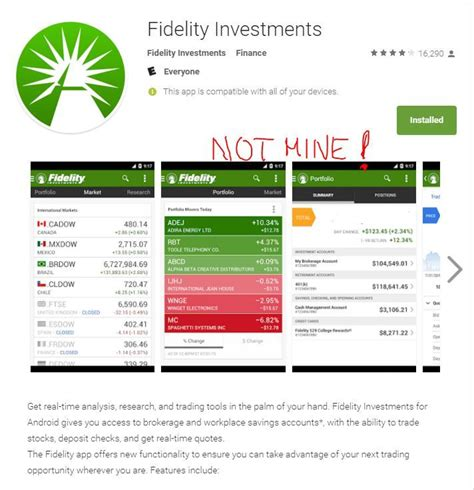 Fidelity Investments Mobile APP Not Meant For Heavy Duty ...