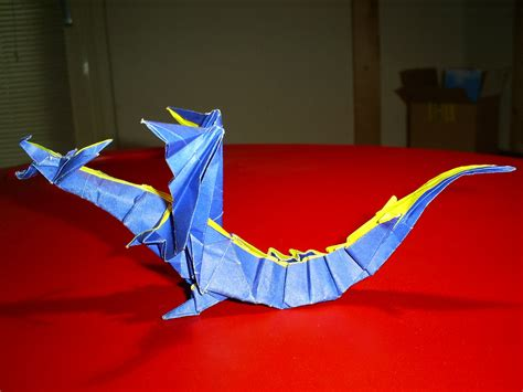 Fiery Dragon Origami #2 by lonely white wolf on DeviantArt
