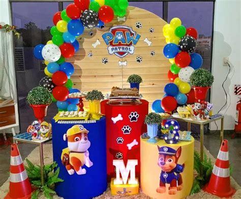 Fiesta de Paw Patrol para niño   Decoración de mesa ...