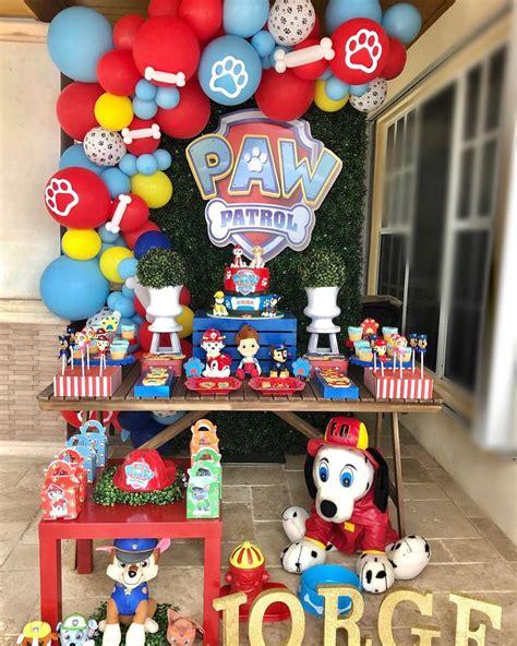 Fiesta de paw patrol para niño   decoración de paw patrol ...