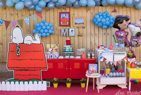 Fiesta de Snoopy Cumpleaños Snoopy Decoración Snoopy