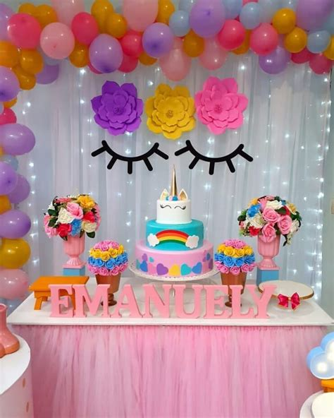 Fiesta de Unicornio | Decoración, pasteles, centros de ...