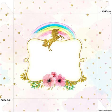 Fiesta de Unicornios: Cajas para Imprimir Gratis ...