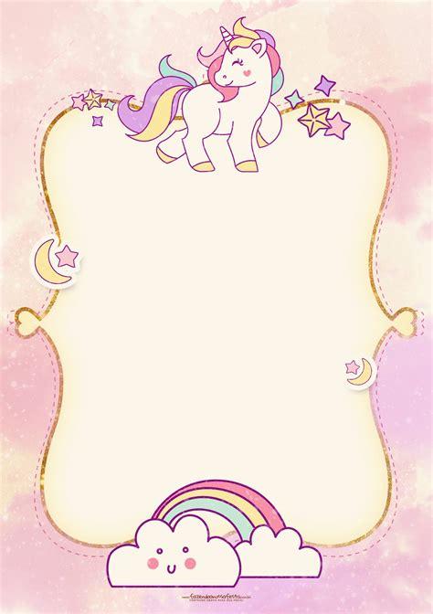 Fiesta de Unicornios: Invitaciones para Imprimir Gratis ...