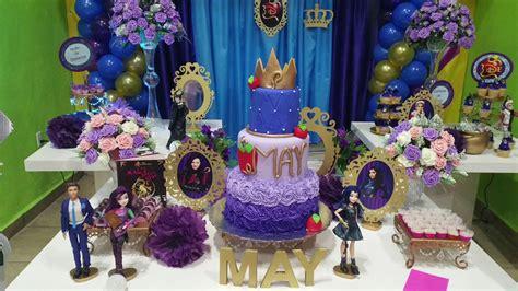 Fiesta descendientes Disney cumpleaños mesa temática   YouTube