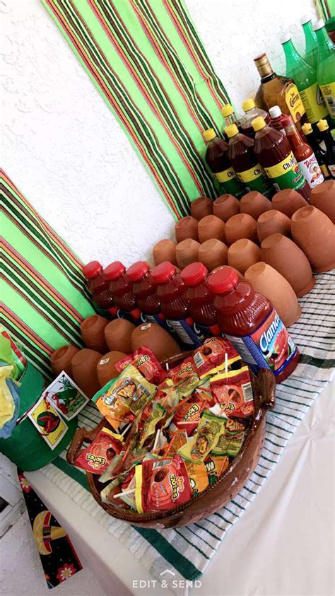 Fiesta Drink table Micheladas Cantaritos | Mexican ...