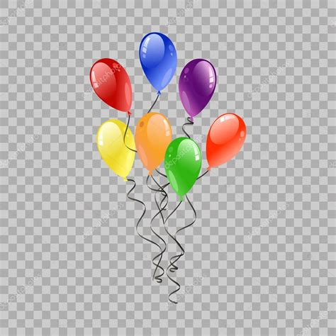Fiesta globos volando para fiesta y celebraciones en fondo ...