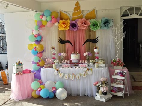 Fiesta infantil de Unicornio   Unicorn birthday   Candy ...