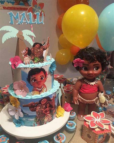 Fiesta infantil tematica de moana hawaiana  8 ...