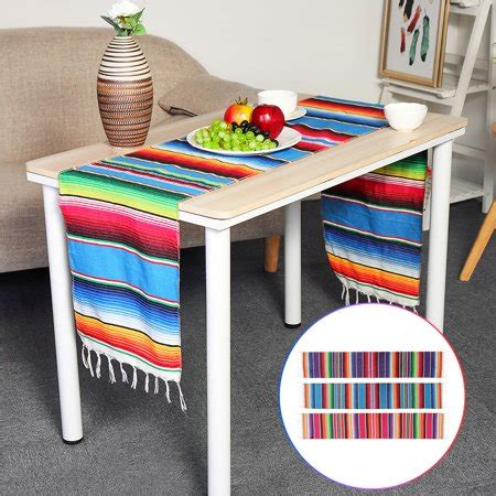 Fiesta Mexican Table Runner 14 x 84 Inch Handwoven Cotton ...