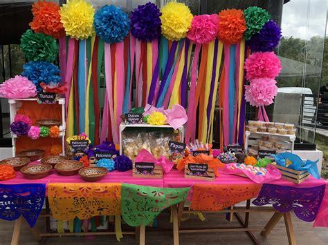 Fiesta mexicana, mesa dulces mexicana decoración mexicana ...