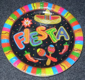 Fiesta paper plates – Code: 4558 – Scalliwags Costume Hire