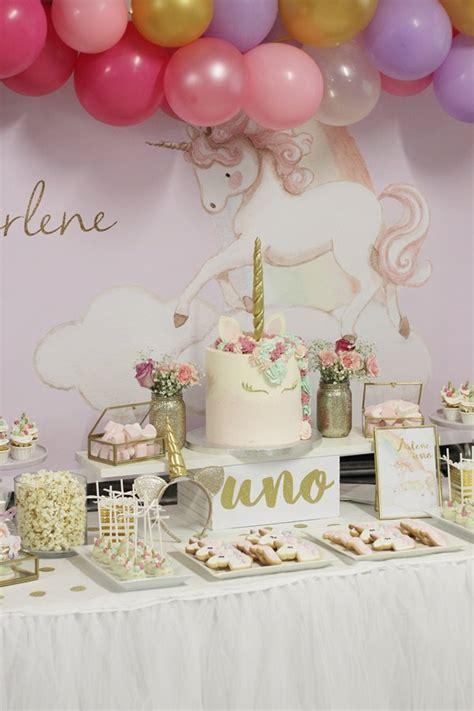Fiesta Unicornios para el Primer Cumpleaños de Arlene ...