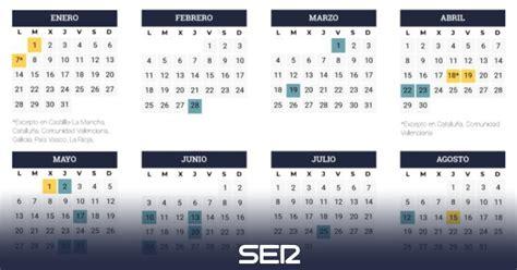 Fiestas 2019: Así será el calendario laboral de 2019 ...