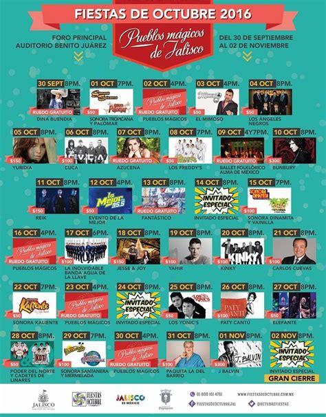 Fiestas de Octubre 2016 Guadalajara palenque y teatro del ...