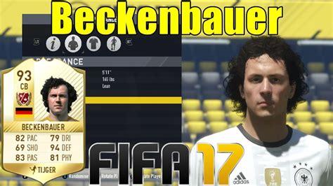 FIFA 17   Beckenbauer   Virtual Pro Look A Like Tutorial ...