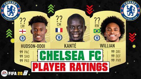 FIFA 20 | CHELSEA FC PLAYER RATINGS | FT. KANTE, HUDSON ...