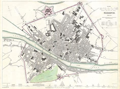 File:1835 S.D.U.K. City Map or Plan of Florence or Firenze ...