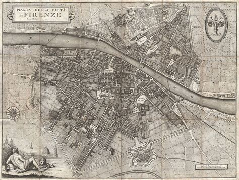 File:1847 Molini Pocket Map of Florence  Frienze , Italy ...