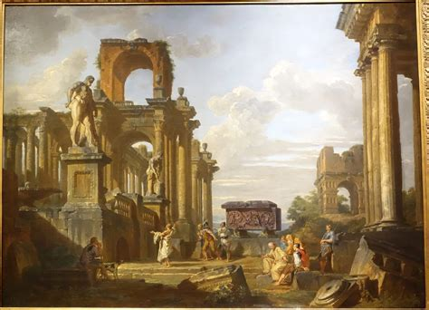 File:An Architectural Capriccio of the Roman Forum with ...