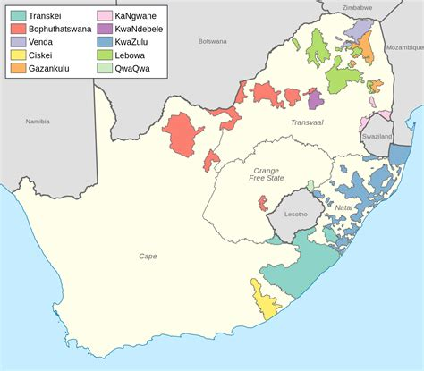File:Bantustans in South Africa.svg   Wikimedia Commons