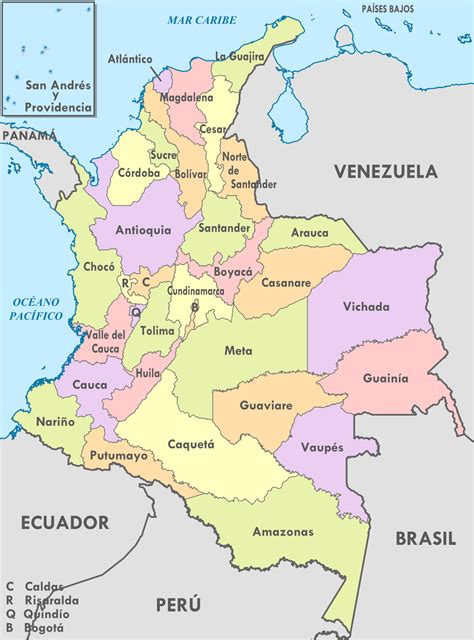 File:Colombia, administrative divisions   es   colored ...