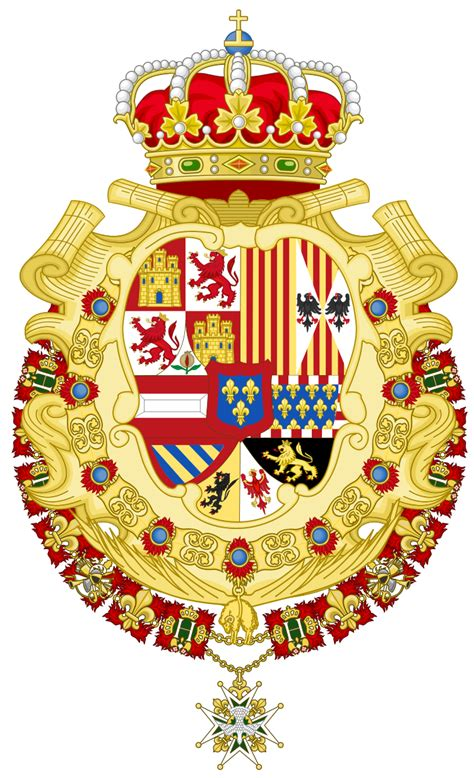 File:Royal Greater Coat of Arms of Spain  1700 1761 ...