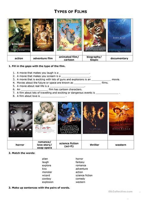 Film Vocabulary Crossword worksheet   Free ESL printable ...