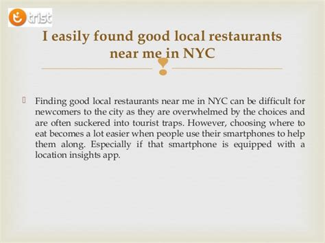 Find Good Local Restaurants Near Me In NYC
