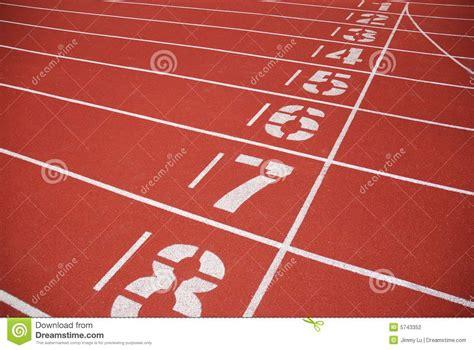 Finish Line Of Running Tracks Stock Photo   Image of ...