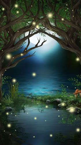 Fireflies by Creative Factory Wallpapers live wallpaper ...