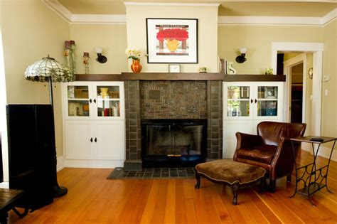 Fireplace cap and cabinets   Traditional   Living Room ...