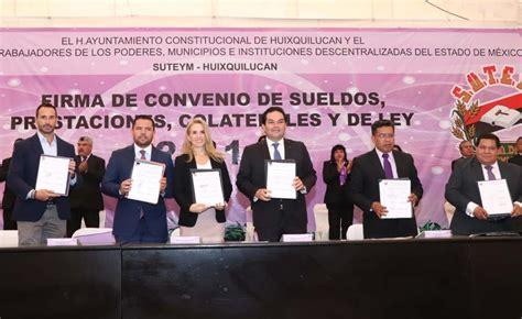 Firma Huixquilucan y SUTEYM convenio laboral 2019   Diario ...